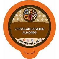 Crazy Cups Flavored Coffee, for the Keurig K Cups Coffee 2.0 Brewers, Chocolate Covered Almonds, 22 Count