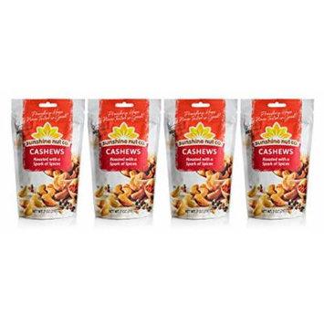 Sunshine Nut Company 'Spark of Spices' Cashews, Peanut Free, Gluten Free, GMO Free, 7 oz, Pack of 4