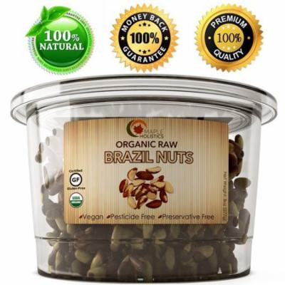 Maple Holistics Organic Raw Brazil Nuts, High Protein + Rich In Nutrients, Natural Health Food Product, 8 Oz
