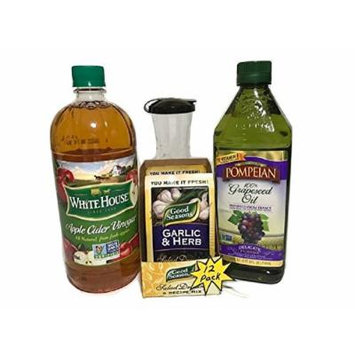 Good Seasons Garlic Herb Salad Dressing Complete Kit (12 packets included - Just add water) (Garlic & Herb)