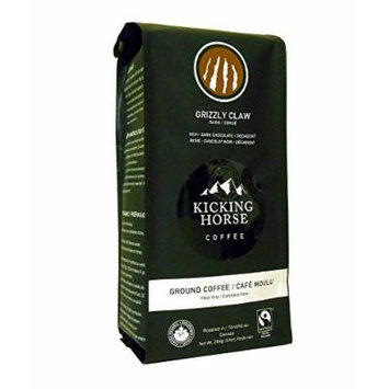 Kicking Horse Ground Coffee, Grizzly Claw Dark Roast, 10 Ounce (Pack of 2)