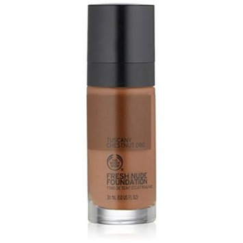 The Body Shop Fresh Nude Foundation, Shade 80 Tuscany Chestnut, 1 Fluid Ounce