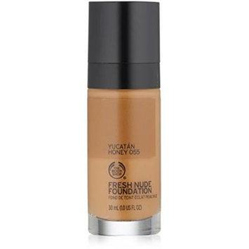 The Body Shop Fresh Nude Foundation, Shade 55 Yucatan Honey, 1 Fluid Ounce