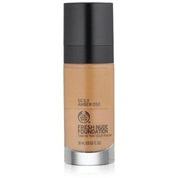The Body Shop Fresh Nude Foundation, Shade 50 Sicily Amber, 1 Fluid Ounce