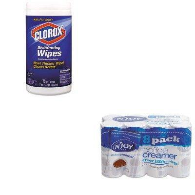 KITCOX01761EANJO827783 - Value Kit - N'Joy Non-Dairy Coffee Creamer (NJO827783) and Clorox Disinfecting Wipes (COX01761EA)