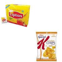 KITKEB58399LIP291 - Value Kit - Kellogg's Special K Cracker Chips (KEB58399) and Lipton Tea Bags (LIP291)