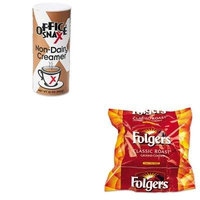 KITFOL06114OFX00020CT - Value Kit - Office Snax Reclosable Canister of Powder Non-Dairy Creamer (OFX00020CT) and Folgers Regular Coffee Filter Pack, .9 Ounce (FOL06114)
