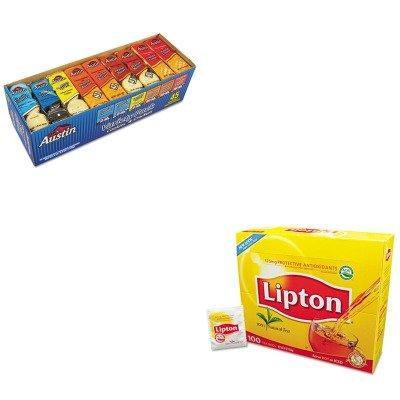 KITKEB827544LIP291 - Value Kit - Keebler Cookies, Assorted, 1.38 oz per Pack (KEB827544) and Lipton Tea Bags (LIP291)