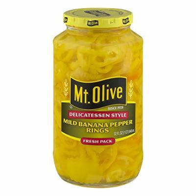 Mt. Olive Delicatessen Style Mild Banana Pepper Rings, 32.0 FL OZ