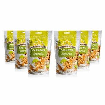 Sunshine Nut Company 'Handful of Herbs' Cashews, Peanut Free, Gluten Free, GMO Free, 7 oz, Pack of 6