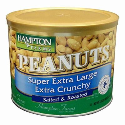 Hampton Farms Super Extra Large Extra Crunchy Salted Roasted Peanuts, 40 oz. (pack of 6)