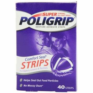 Super Poligrip Comfort Seal Denture Adhesive Strips - 40 Strips