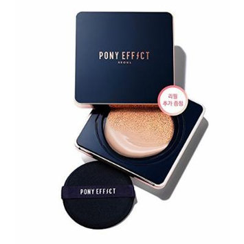 Pony Effect Everlasting Cushion Foundation with Refill SPF50+ PA+++ (#21 Natural Ivory)