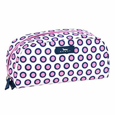 SCOUT Gossip Girl Jewelry and Cosmetic Bag, Quilted Liner, Interior Zipper Pocket, Water Resistant, Zips Closed, Dot Bikini