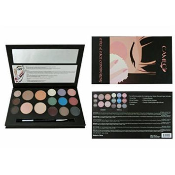 Cameo Cosmetics Eyes and Face Contouring Kit, Light Colors, A 3 Palettes in One Makeup Kit With 16 Bestselling Shades, Step by Step Instructions Included