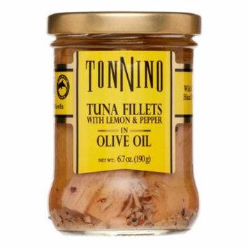 Tonnino Tuna Fillets, with Lemon Pepper & Olive Oil, 6.7 Oz