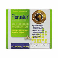 New Florastor Maximum Strength 250 Mg Capsules - 50 #1 Probiotic Worldwide