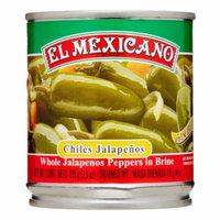 El Mexicano Whole Jalapeños, 7.5 Oz