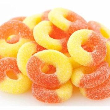 Gummi Peach Rings 1 pound bulk gummy candy gummy rings