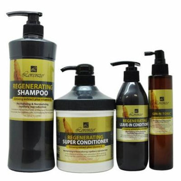Lorenzo Regenerating Shampoo + Super Conditioner + Leave-in + Gin-N-Tonic