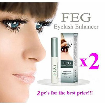 2 X FEG Eyelash enhancer. The most powerful eyelash growth Serum 100% Natural. Promote rapid growth of eyelashes. 100% Original with Anti-Fake sticker!!!