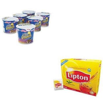 KITKEB01474LIP291 - Value Kit - Kellogg's Breakfast Cereal (KEB01474) and Lipton Tea Bags (LIP291)