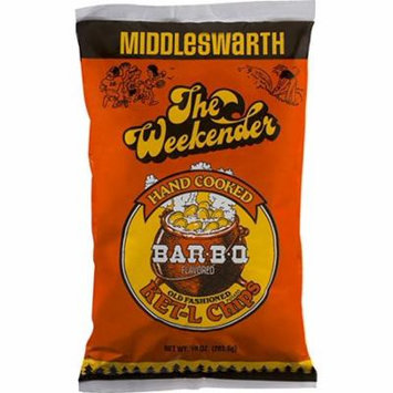 Middleswarth Hand Cooked Old Fashioned KET-L Potato Chips Bar-B-Q Flavored The Weekender (4 Bags)