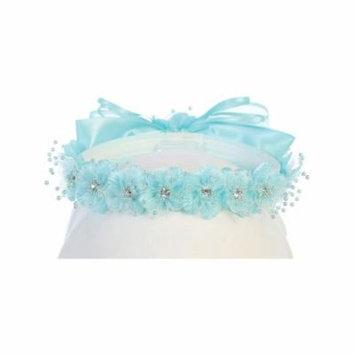Angels Garment Girls Aqua Flower Glitter Rhinestone Embellished Headband