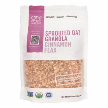 One Degree Organic Foods Sprouted Oat Granola, Cinnamon Flax, 11 Oz, 1 Count