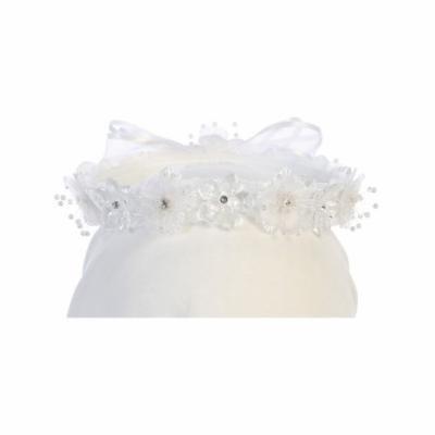 Angels Garment Girls White Flower Glitter Center Embellished Headband