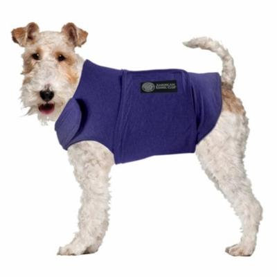AKC Calming Coat Anti-Anxiety Stress Relief Coat For Your Dog Blue Small 16-23lbs.