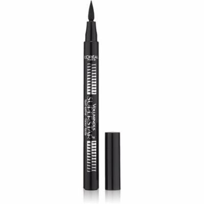 L'Oreal Paris Voluminous Superstar Liquid Eyeliner Pen, Black [202] 0.056 oz (Pack of 6)