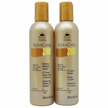 Keracare Hydrating Detangling & 1st Lather Shampoos 240 ml Set