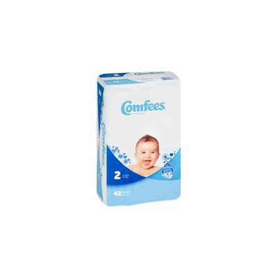 Comfees CMF-2 Disposable Baby Diapers-Size 2-168/Case