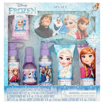 Disney Frozen Spa Bath Gift Set, Frosted Berry Scented, 7pcs