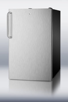 Summit CM421BLSSTB 4.1 Cu. Ft. Stainless Steel Undercounter Compact Refrigerator