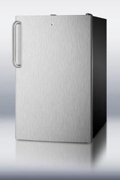 Summit CM421BLBISSTB 4.1 Cu. Ft. Stainless Steel Undercounter Compact Refrigerator