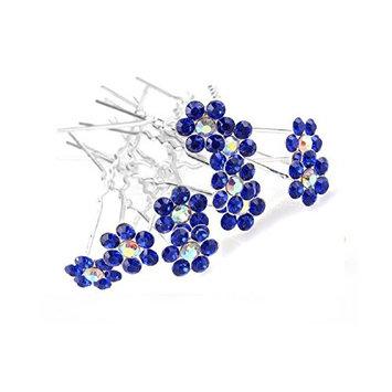 Shop Ginger Wedding Flower Pack Of 10 Flower Crystal Rhinestones Hair Pins