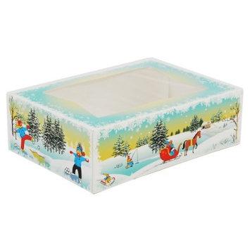 Southern Champion Tray 2494 Paperboard Winter Wonderland Print Window Bakery Box, 8