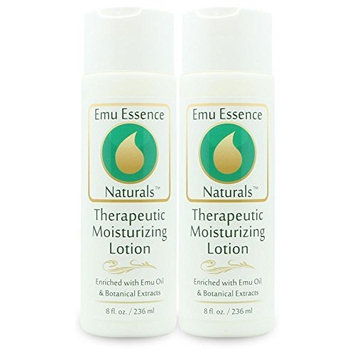 Emu Essence Therapeutic Moisturizing Lotion with Emu Oil Twin Pack 2 / 8 oz bottles by Emu Essence