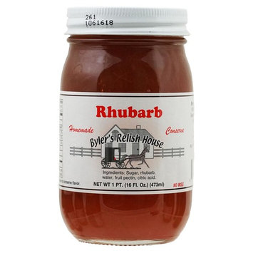 Byler's Relish House Homemade Amish Country Rhubarb Conserve 16 oz.