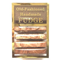 Fashioned Handmade Smooth Creamy Fudge - Chocolate Fudge Assortment Box (4 Slices - 1 Pound)