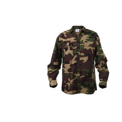 Woodland Camo Extra Heavyweight Flannel Shirt