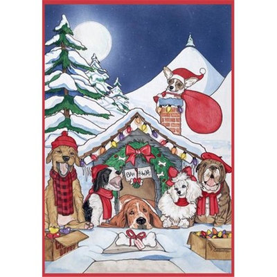 Pipsqueak Productions C413 Mix Dog With Cat Holiday Boxed Cards