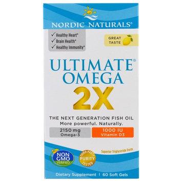 Nordic Naturals Ultimate Omega® 2X with Vitamin D3 Lemon -- 60 Softgels