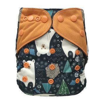 EcoAble Baby Pocket Cloth Diaper, One Size 10-35Lb, Polar Bear