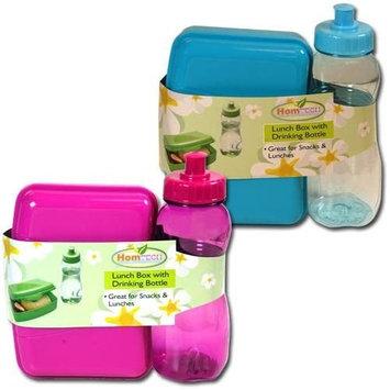 Homtech Lunch Box & Transparent Drinking Bottle Set For Kids