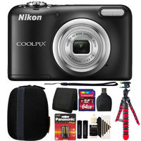 Nikon COOLPIX A10 16.1MP Digital Camera(Black) + More Accessories & Batteries