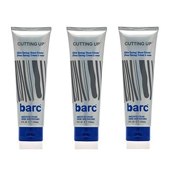 Barc Cutting Up, Unscented Shave Cream, 6 Oz (Pack of 3) + FREE LA Cross 71817 Tweezer