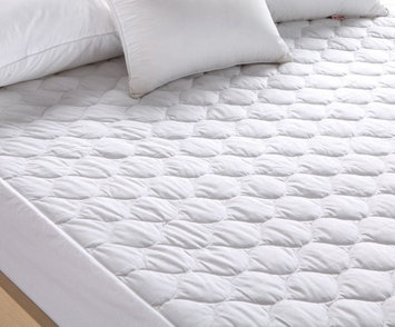 Pal Fabric Premium Mattress Pad -Hypoallergenic Fiber Fill Topper - Waterproof- Vinyl Free-Deep Fitted skirt TWIN SIZE